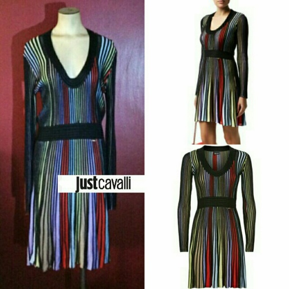 68364cf5943eb Just Cavalli Dresses | Rainbow Knitted Dress | Poshmark